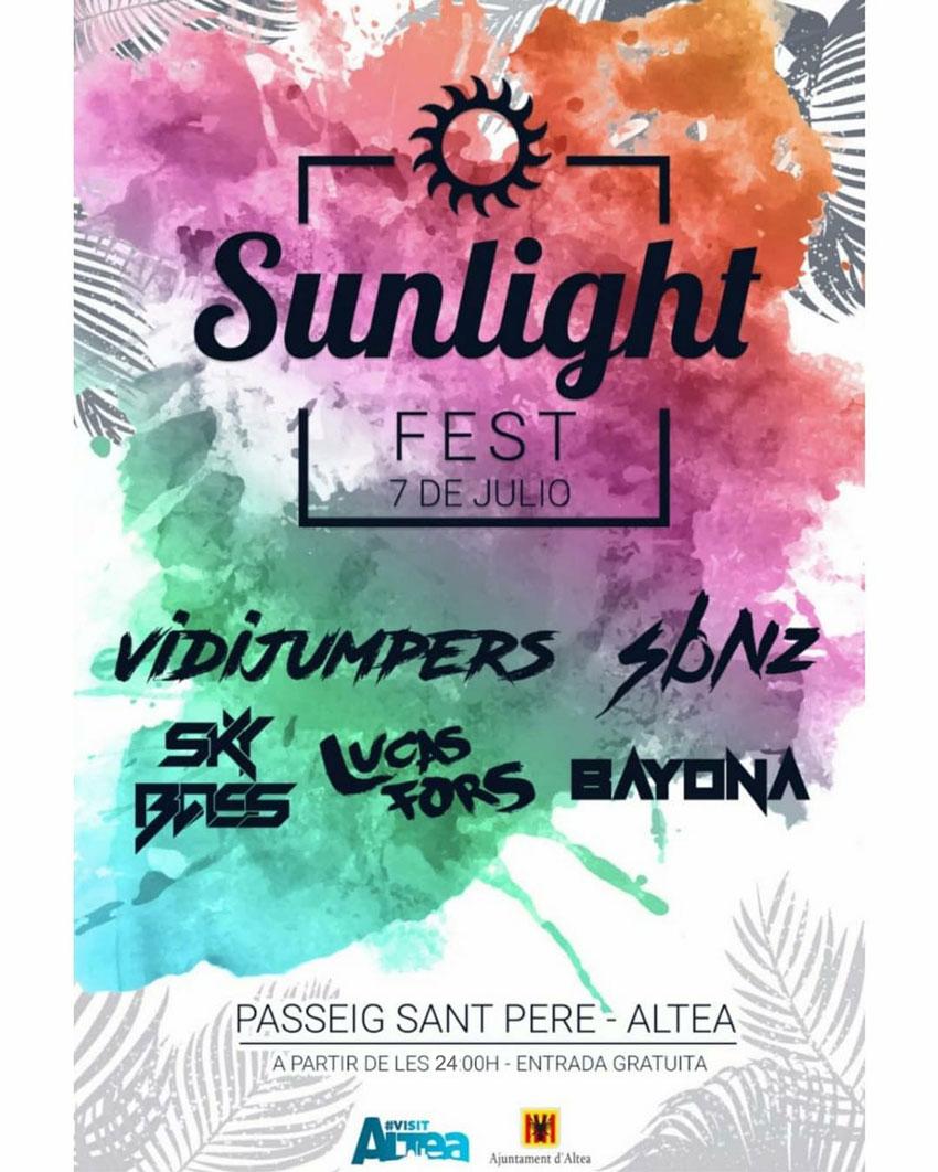 """El """"Sunlight Fest"""" s'estrena a Altea amb la millor música de dj's"""