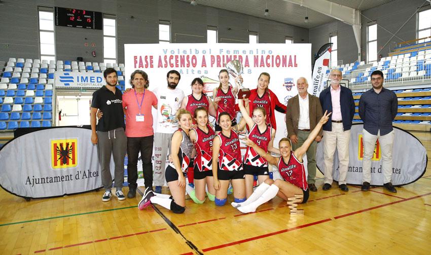 El Club Voleibol Altea jugarà a l'elit del voleibol nacional