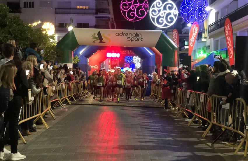 Altea congrega a más de 300 participantes en la San Silvestre Nocturna
