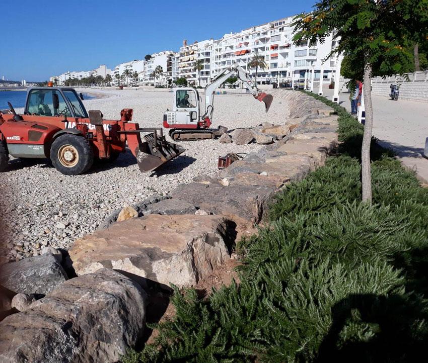 El Govern Central executa un nou accés a la platja de l'Espigó