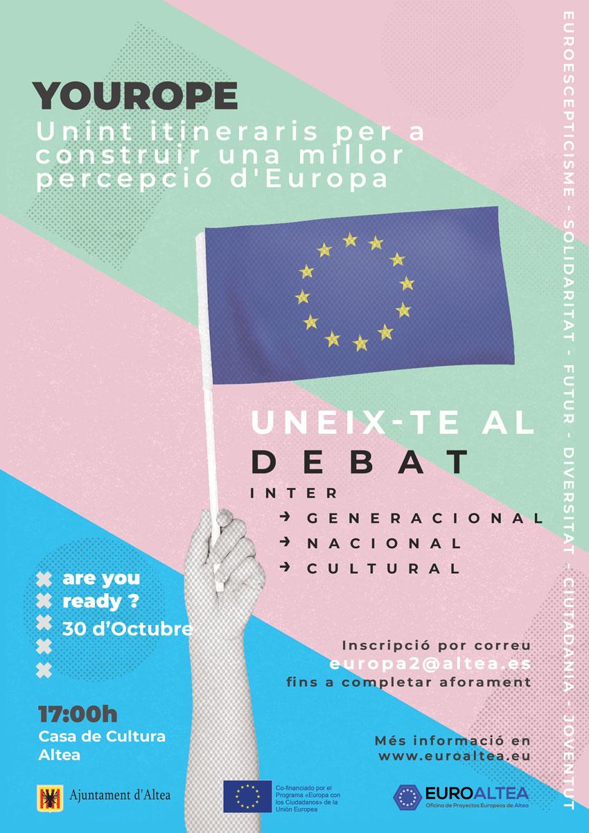 El 29 i 30 d'octubre tindrà lloc a Altea la primera trobada internacional del projecte YOUROPE