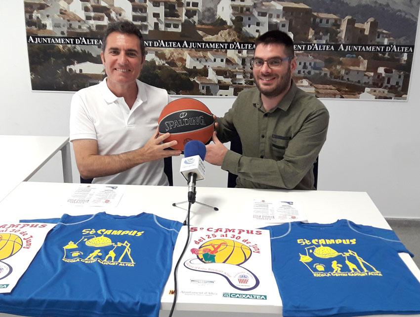 Esports i el Club de Bàsquet posen en marxa una nova edició del Campus Escola d'Estiu Bàsquet Altea