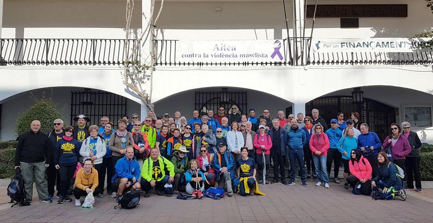 Massiva inauguració del ramal d'Altea al Camí de Santiago del Sud-est i de la Llana