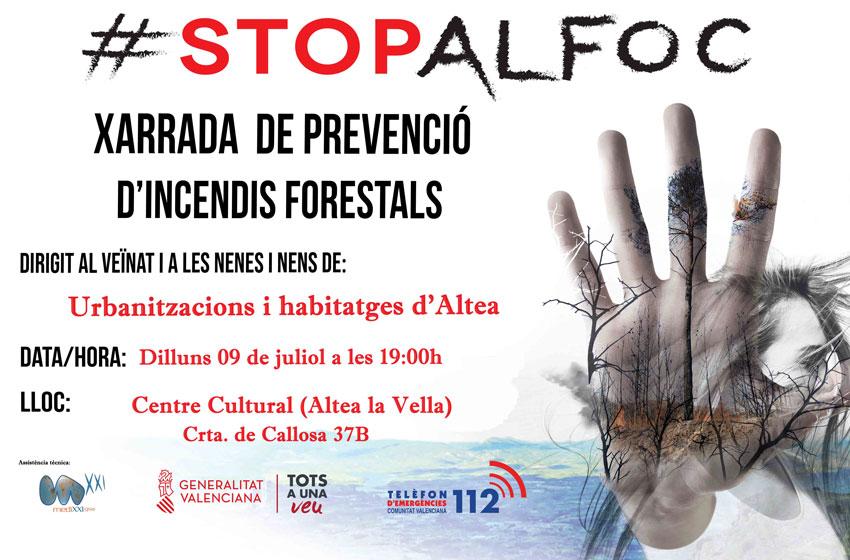 El Centro Cultural de Altea la Vella albergará unas jornadas de prevención de incendios forestales