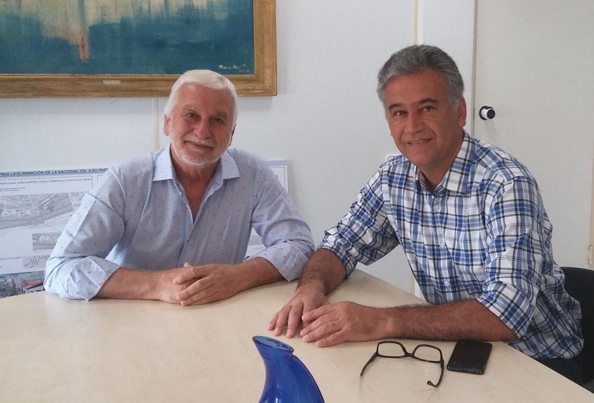 Jaume Llinares rep la visita de l'alcalde de San Vicente de Tagua Tagua de Xile