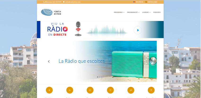 Ràdio Altea renova la imatge i estructura del seu web