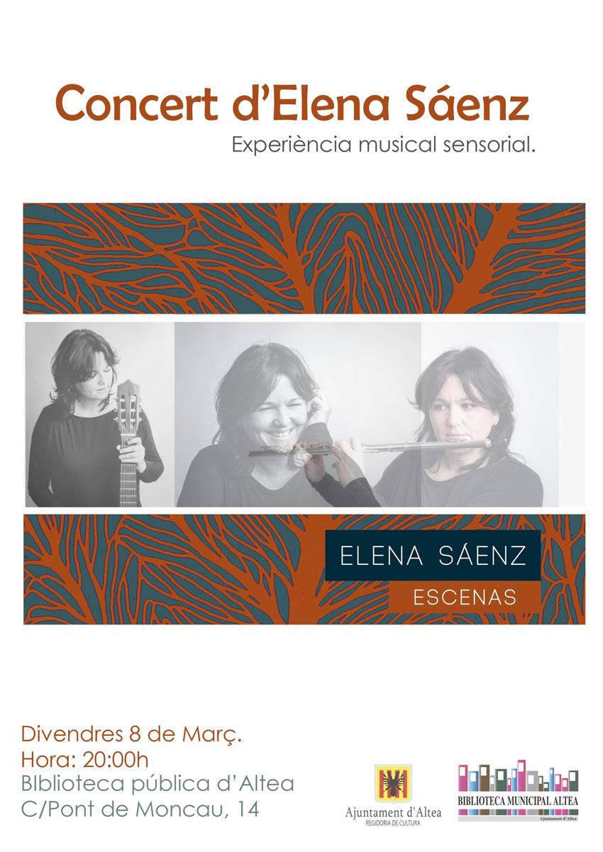 """Hui la Casa de Cultura acull el concert d'Elena Sáenzque presenta el seu primer disc """"Escenas"""".La cita ésa les 20:00 hores. T'esperem!"""