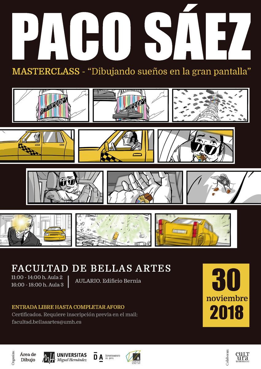 Paco Sáez, dibuixant de Walt Disney, imparteix una Masterclass a Altea
