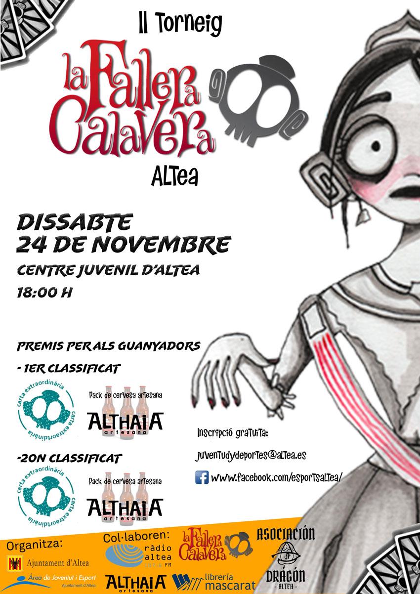 La concejalía de Juventud organiza el II Torneo de 'La Fallera Calavera'