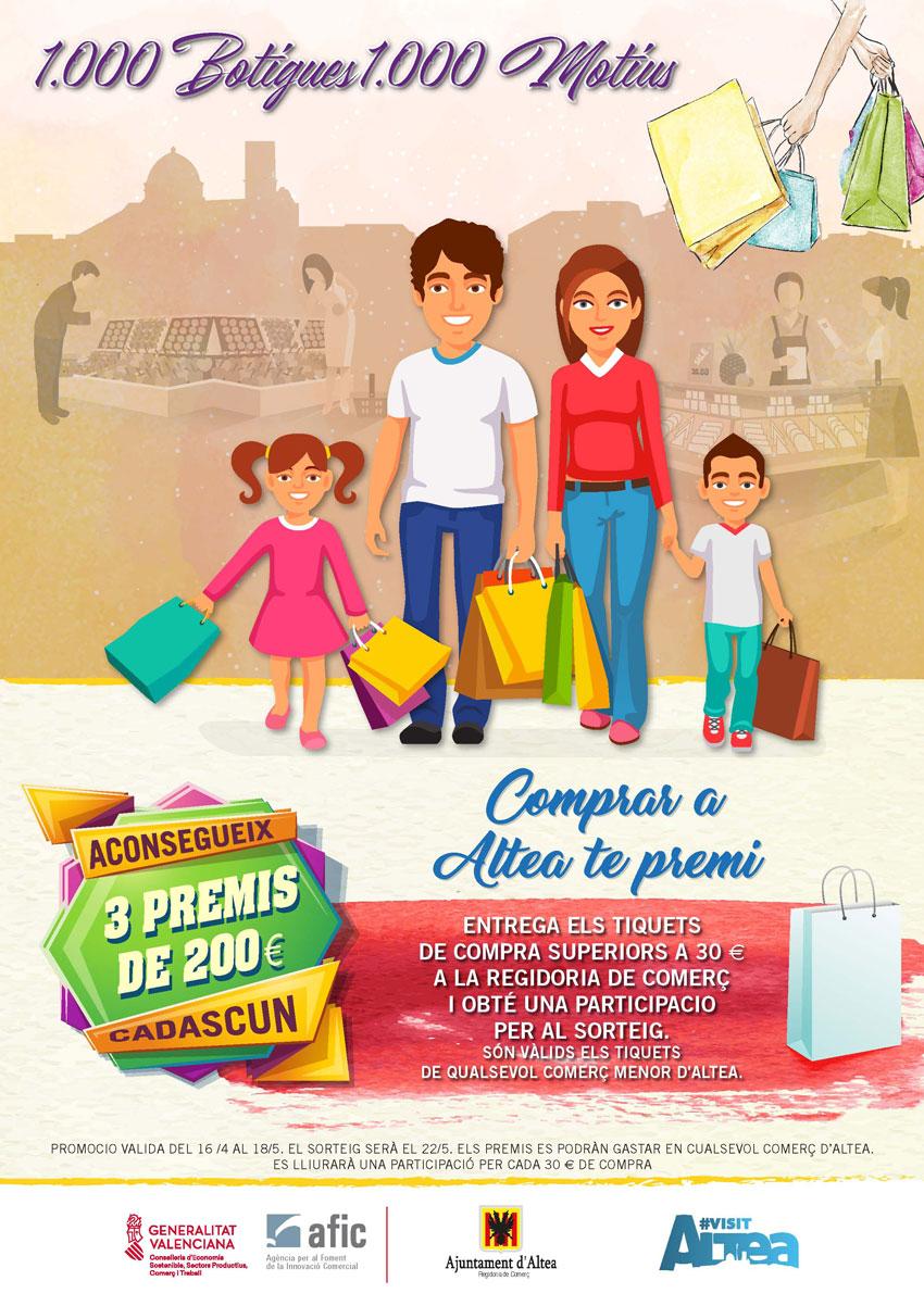 Comercio concluye la campaña ''1000 botigues, 1000 motius'' con el doble de participantes que el año pasado