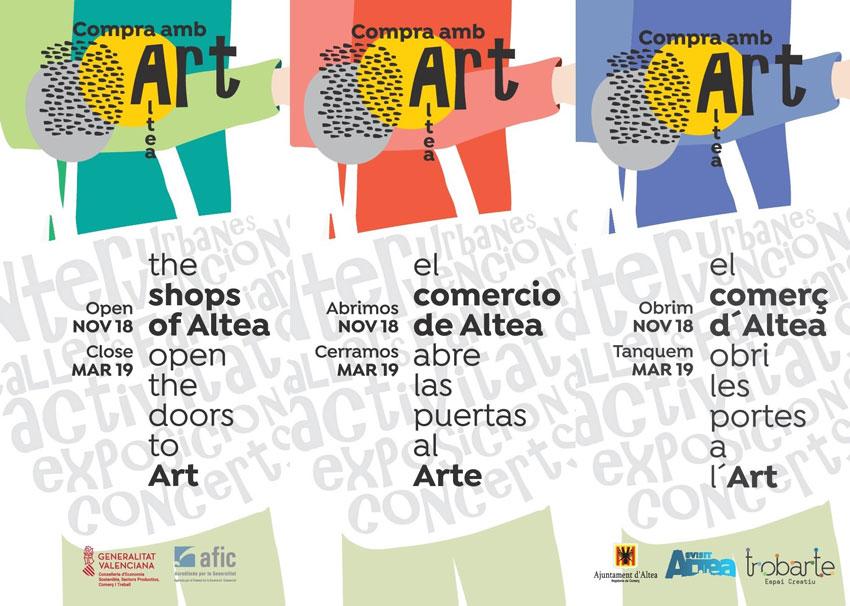 """Les zones comercials d'Altea s'ompliran d'art amb el projecte """"Compra amb art"""""""