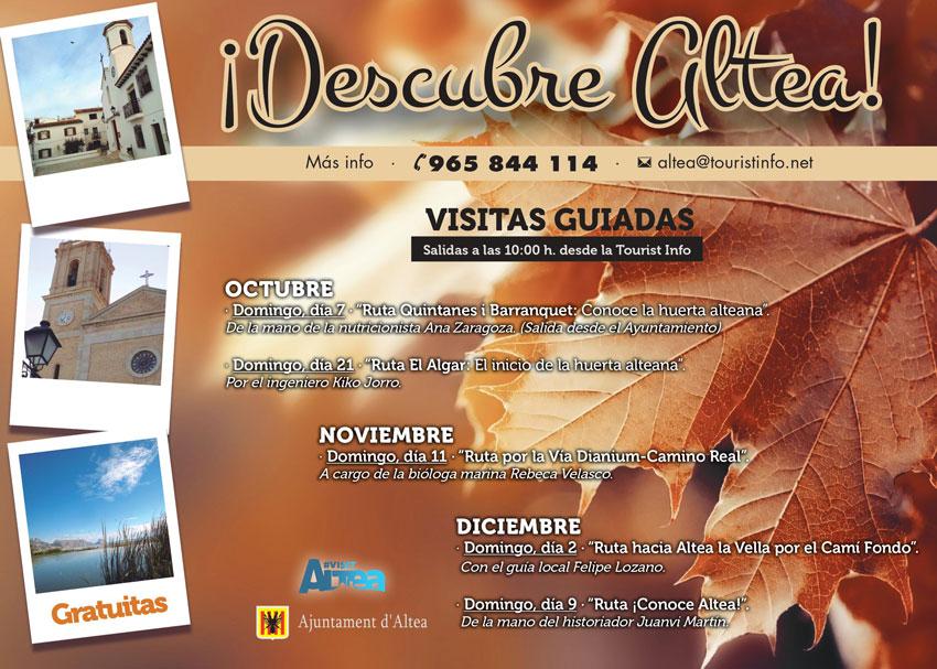 Turismo presenta la nueva programación de rutas guiadas de otoño