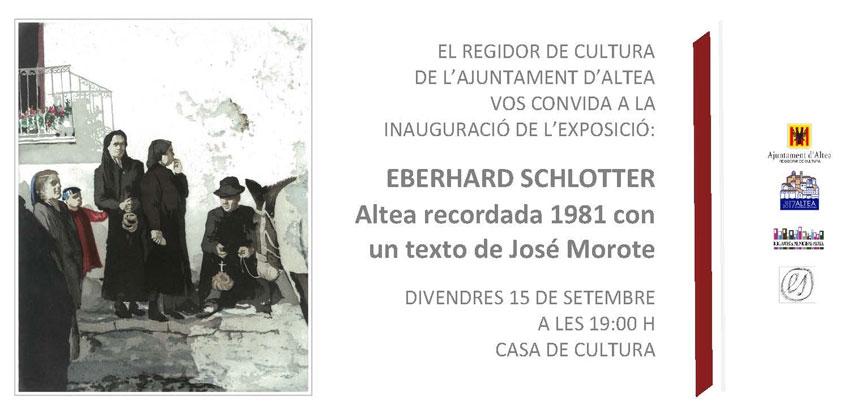 """L'exposició """"Eberhard Schlotter: Altea recordada 1981 amb un text de José Morote"""" s'inaugura este divendres"""