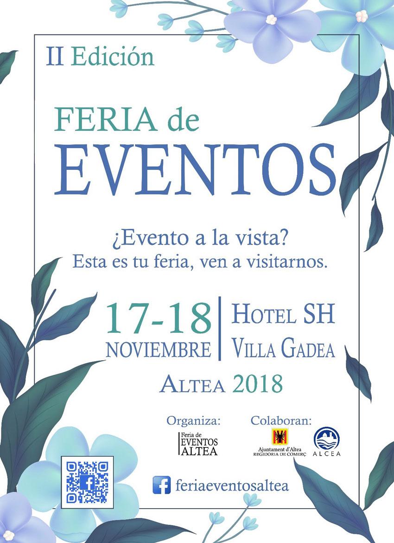Comerç col·labora amb la II Feria de Eventos de Altea que es celebrarà aquest cap de setmana a l'Hotel SH Villa Gadea