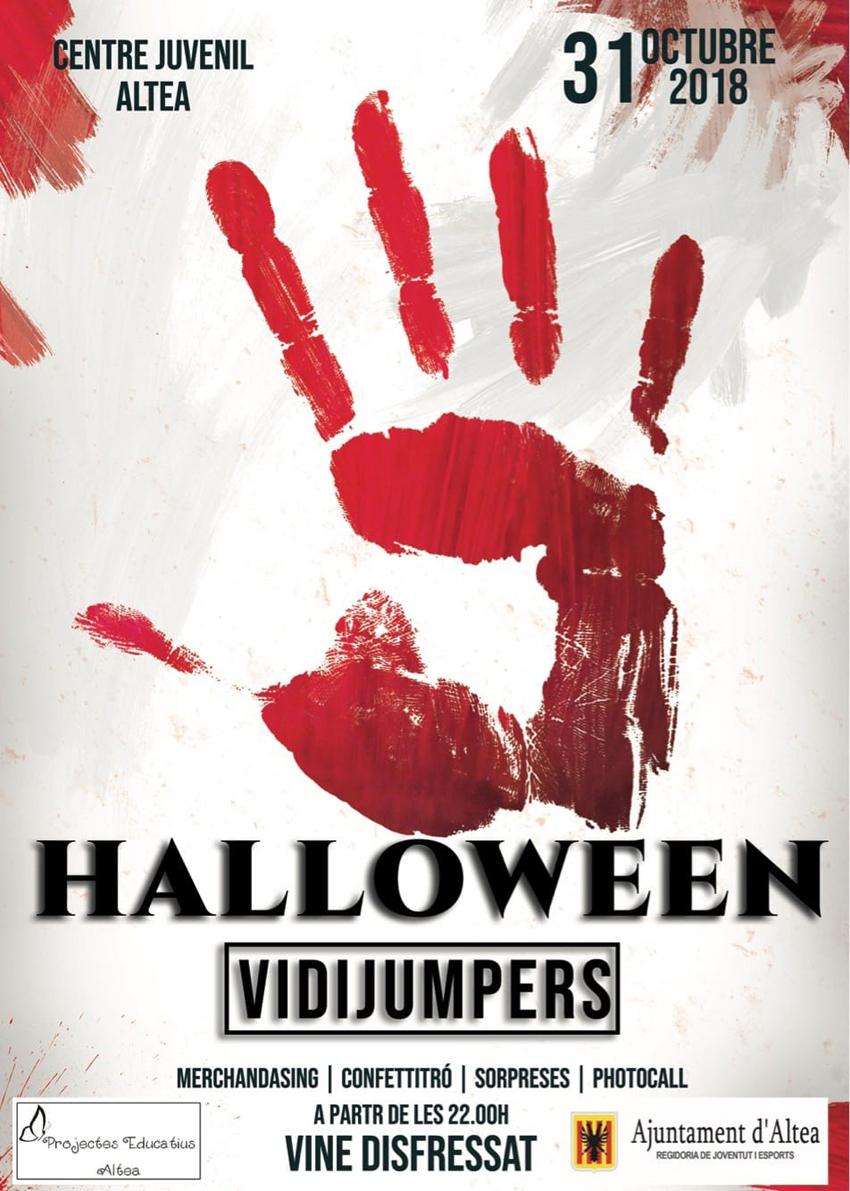 VidiJumpers participarà a la festa per a joves de Halloweenque tindrà lloc el dimecres 31 d'octubre a partir de les 22:00 hores al Centre Juvenil d'Altea