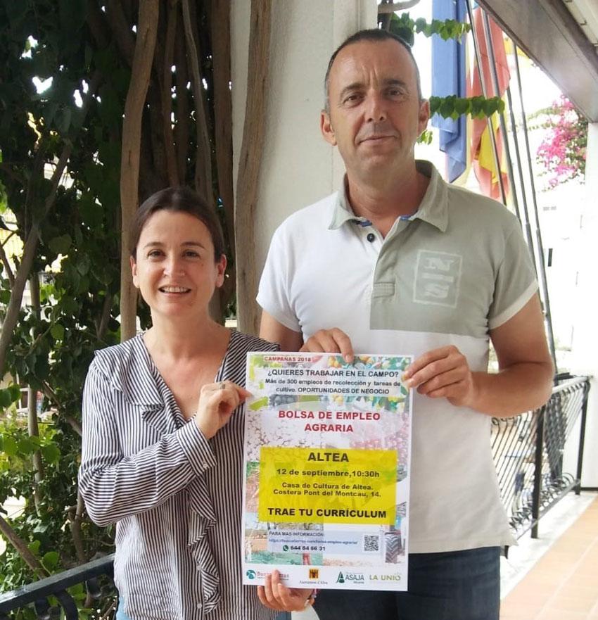 Altea promociona una borsa d'ocupació agrícola de l'Agència de Dinamització Rural Buscatierras