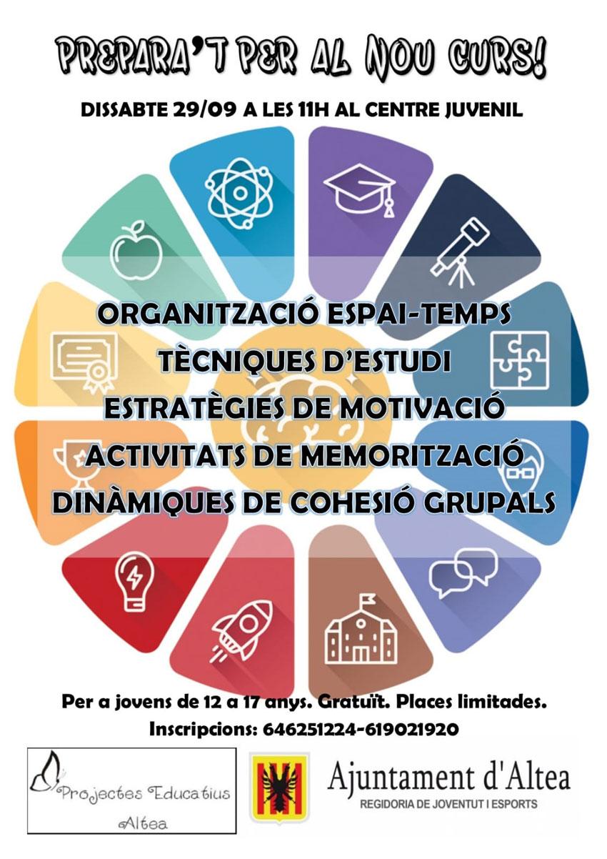 Juventud y Projectes Educatius ponen en marcha una jornada de preparación de cara al nuevo curso