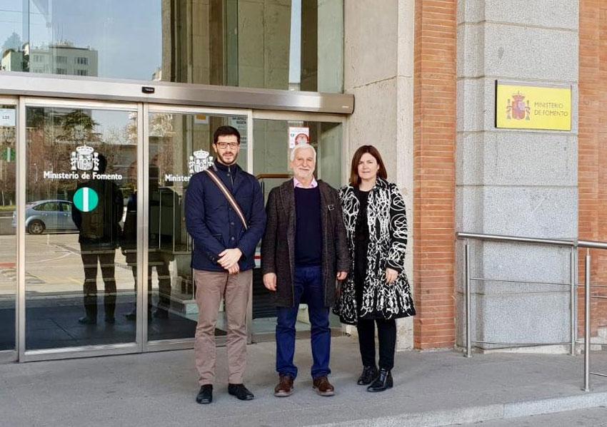 Jaume Llinares, acompañado por Imma Orozco y Roque Ferrer, presenta en Madrid la propuesta alteana de enlace sur con la AP7