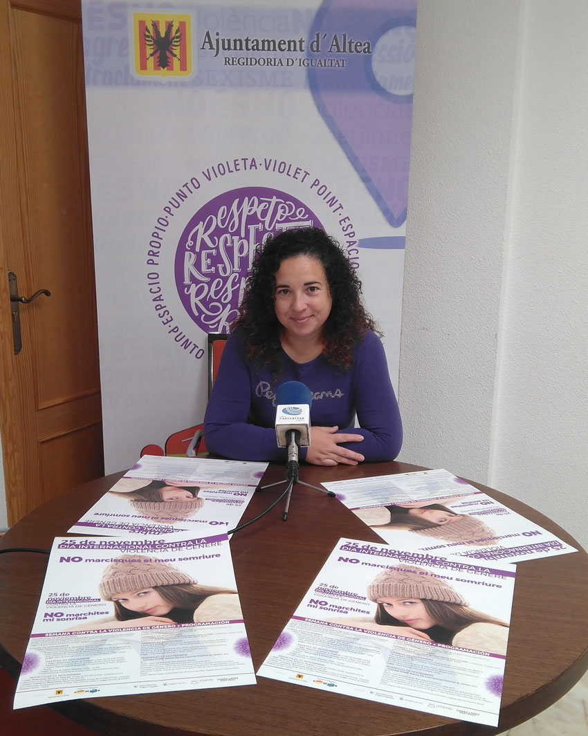 Igualtat informa de la programació de la Setmana contra la Violència de Gènere