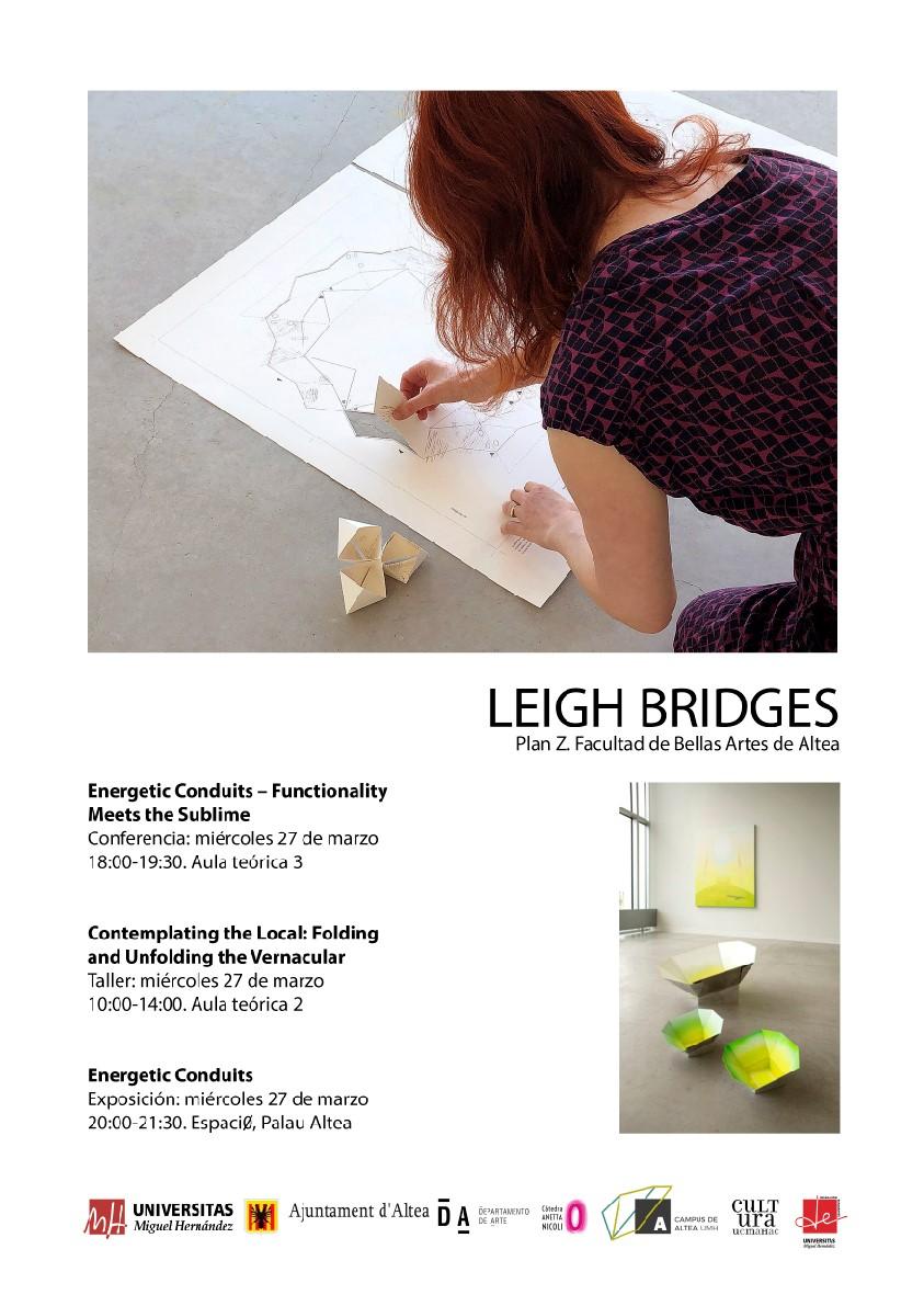 """La UMH inaugura a Altea la mostra """"Conductes Energètics"""" de l'artista Leigh Bridges"""