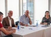 El director general de Ports, Aeroports i Costes es reuneix amb l'alcalde, la regidora d'Educació, el regidor d'Urbanisme i Medi Ambient, i representants del sector