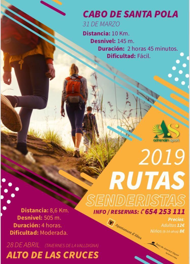 Obertes les inscripcions per a les dues rutes de senderisme organitzades per Adrenalin Sport amb la col·laboració de l'Ajuntament d'Altea, a través de la Regidoria de Joventut i Esports