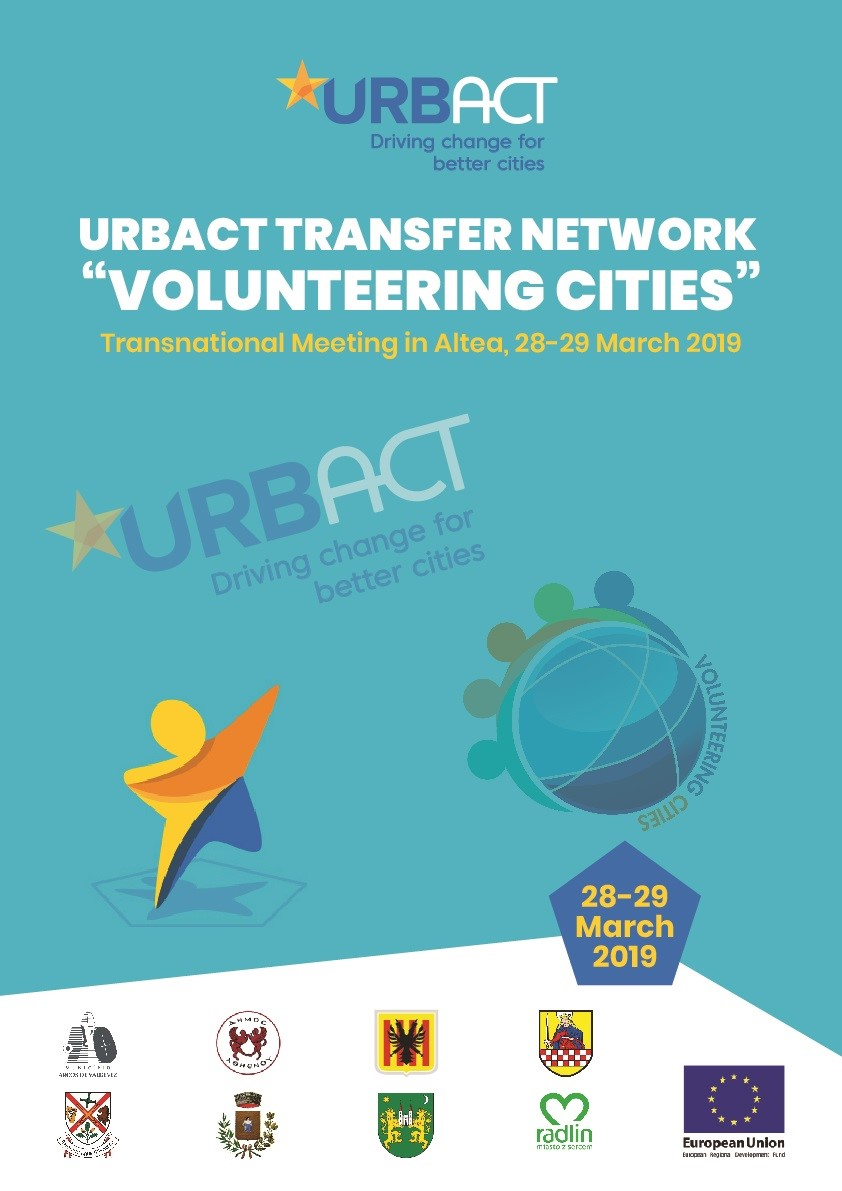 """Altea celebra los días 28 y 29 de marzo un encuentro transnacional con el proyecto """"Ciudades de voluntariado"""""""