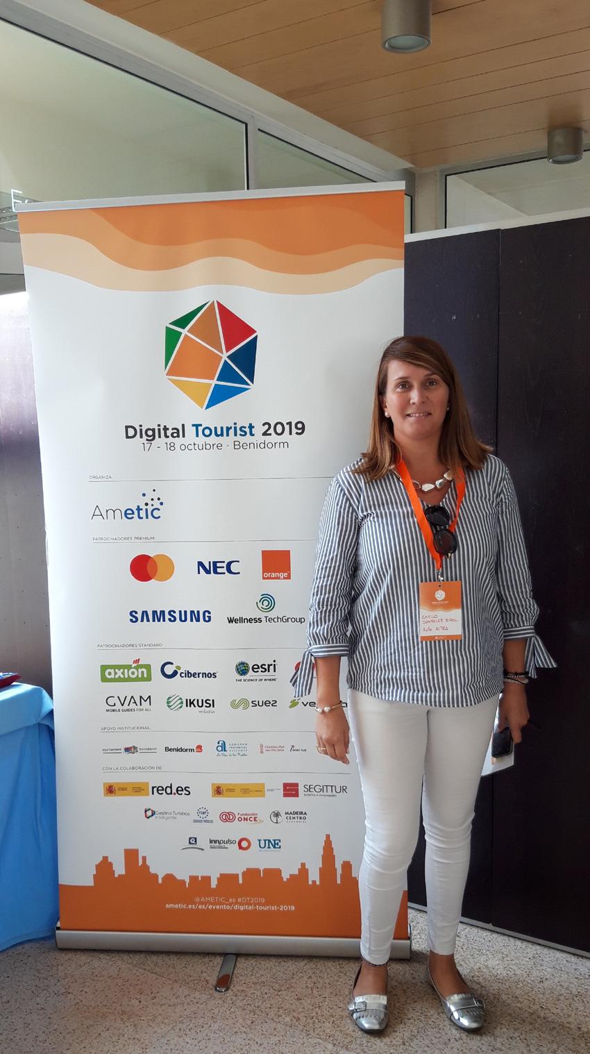Regidora i tècnica de Turisme assisteixen a la jornada Digital Tourist 2019