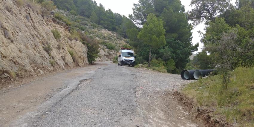 Infraestructures executa obres de millora i condicionament del camí Costera Blanca a Serra Bèrnia