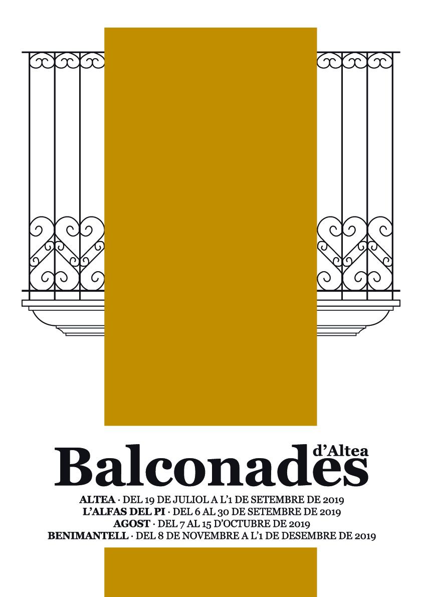 """Hasta el 1 de septiembre se pueden visitar las 56 obras de arte """"Balconades d'Altea"""" que engalanan las calles del Casco Antiguo de Altea. ¡Disfruta de este museo de arte pictórico al aire libre!"""