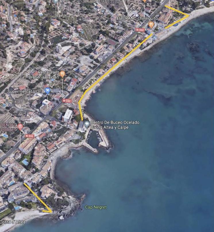 L'Ajuntament inicia les obres d'ampliació de l'enllumenat públic de la platja de l'Olla i Cap Negret