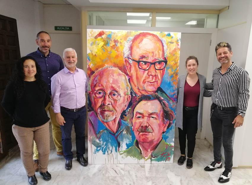 Tachi Lloret dóna a Altea l'obra que va pintar durant la presentació de la Capitalitat Cultural