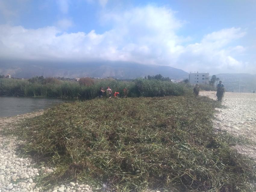 """Els voluntaris """"De Amicitia"""" realitzen treballs en el riu Algar"""