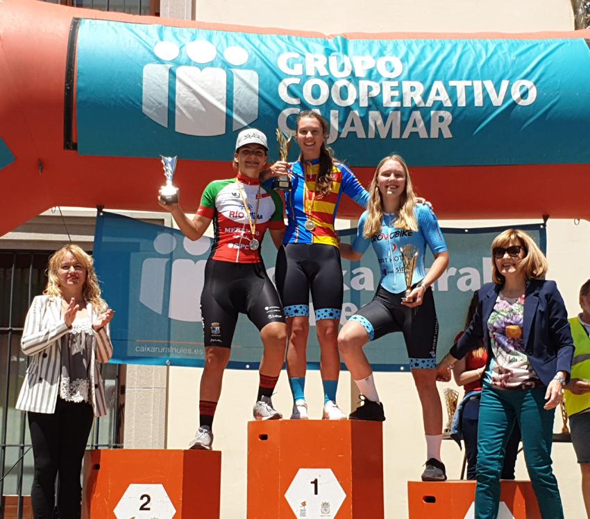 Cristina Succi primera classificada del campionat autonòmic de CRI en Cadets