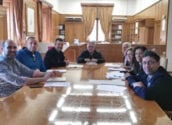 Alcalde i regidor de Cultura participen en la reunió de la Comissió Mixta de la Càtedra Enric Valor