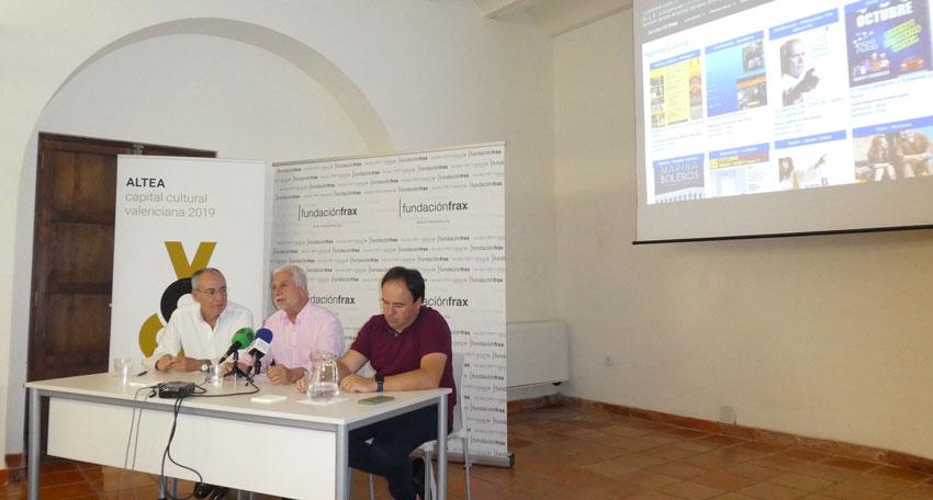 Altea acull la presentació de la ''Agenda Cultural virtual de la Marina Baixa i Alta''
