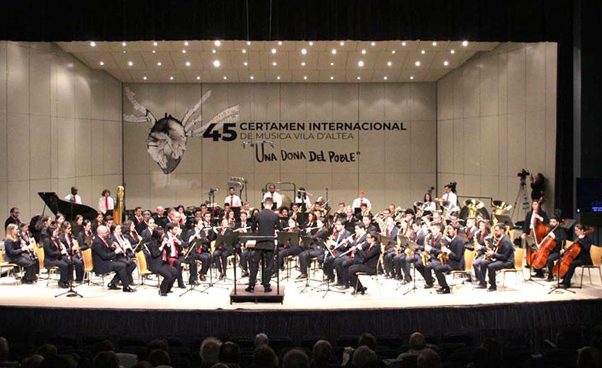 Dues bandes de Portugal i una de la Comunitat competiran al 46 Certamen Internacional de Música Vila d'Altea