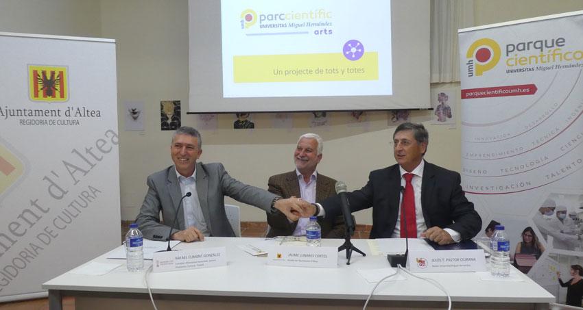 El Ayuntamiento y la UMH impulsan la innovación y el emprendimiento en el municipio través del Parc Científic de les Arts