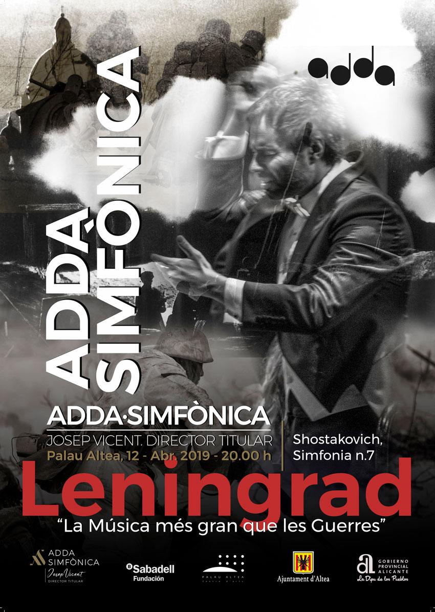 Palau Altea acull a l'Orquestra ADDA Simfònica, amb el concert 'Leningrad: La Música més gran que les Guerres', de la mà del director alteà Josep Vicent, qui interpretarà la simfonia núm. 7 de Shostakovich. La cita tindrà lloc aquest divendres 12 d'abril, a les 20:00 hores.