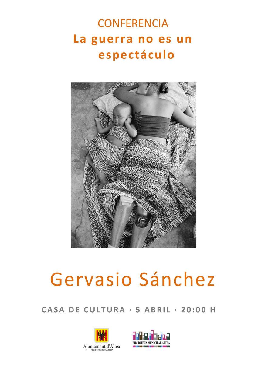 """Aquest divendres 5 d'abril, a les 20:00 hores tindrà lloc a la Casa de Cultura la conferència """"La guerra no es un espectáculo"""", del fotoperiodista Gervasio Sánchez."""