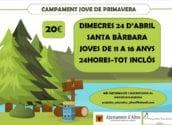 Santa Bàrbara albergarà una jornada de primavera destinada als joves d'entre 11 i 16 anys
