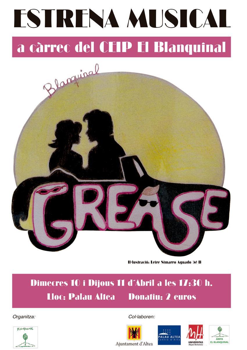 """Alumnes del Col·legi El Blanquinal representaran el musical """"Grease"""" a Palau Altea"""