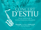 No et perdes aquest diumenge el concert més refrescant de la Banda Simfònica de la Societat Filharmònica Alteanense al Passeig Sant Pere, a les 19h.