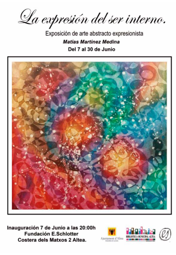 """Hasta el 30 de junio la FundaciónE.Schlotter expone""""La expresión del ser interno"""", arte abstracto expresionista de Matías Martínez Medina."""