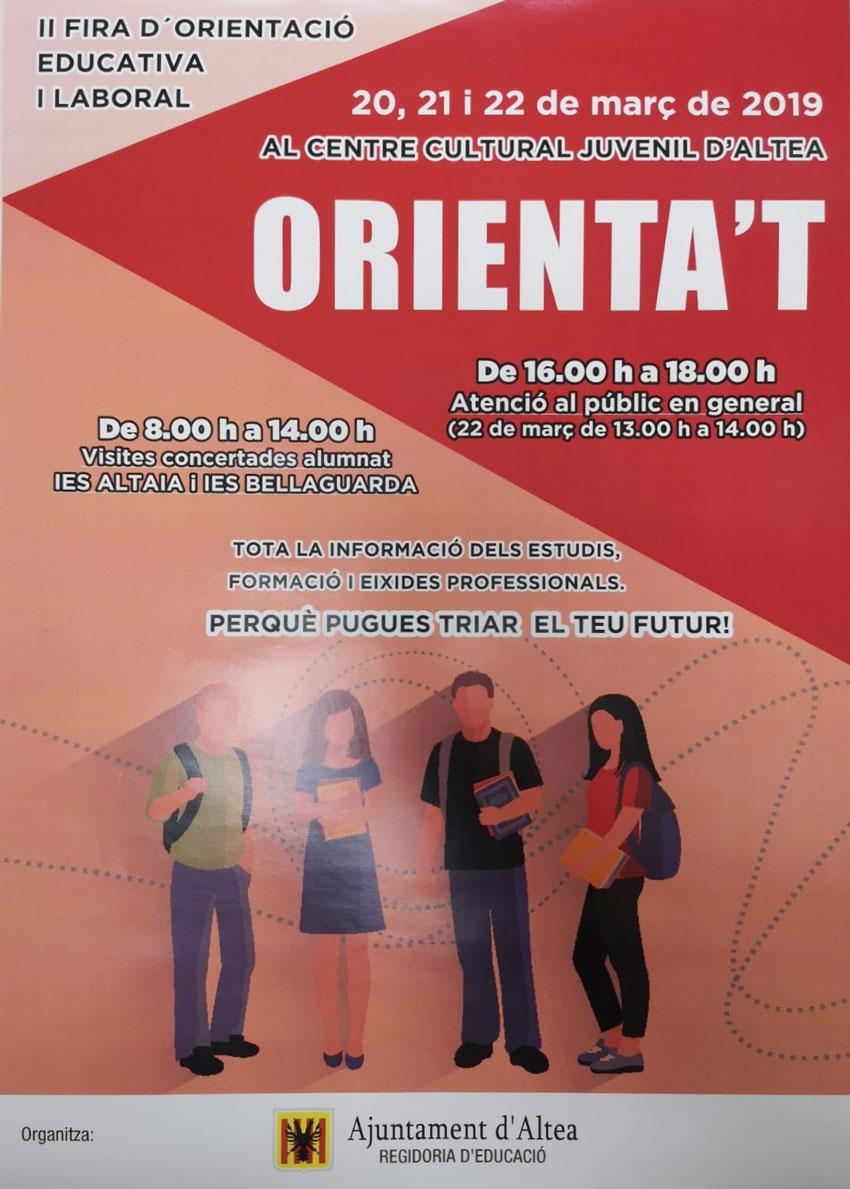 "Altea celebra la II Fira d'Orientació Educativa i Laboral ""Orienta't"""