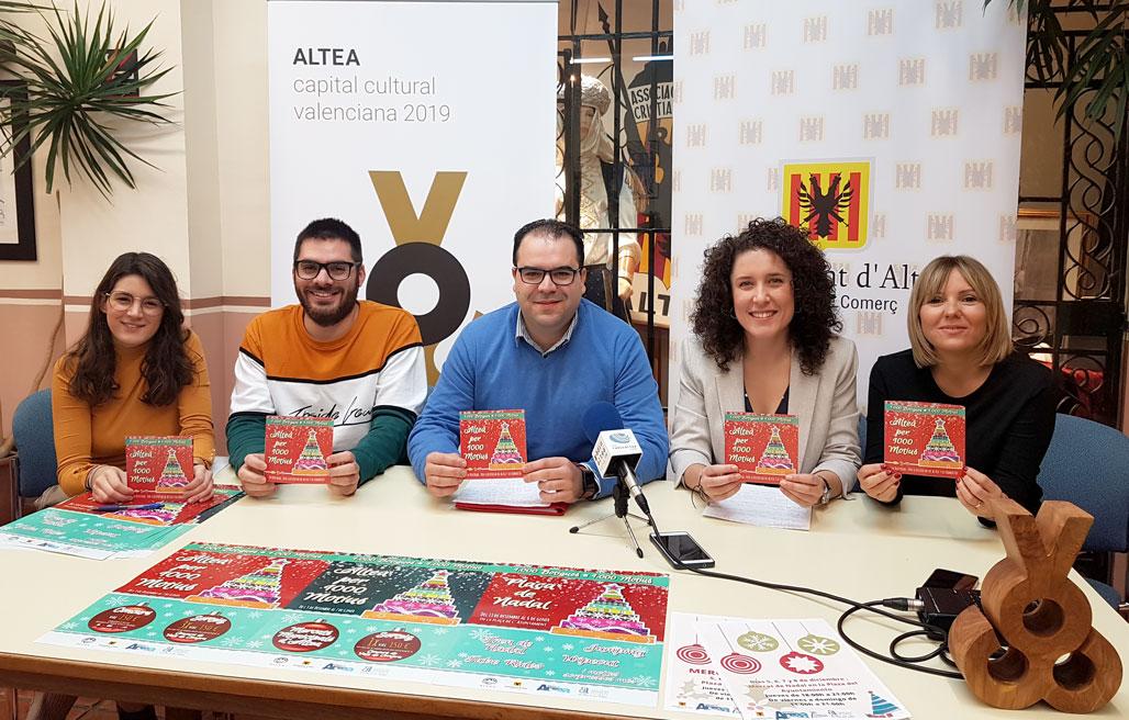 L'Ajuntament d'Altea presenta la campanya de Comerç per als Nadals i anuncia la programació d'activitats de l'1 de desembre al 6 de gener