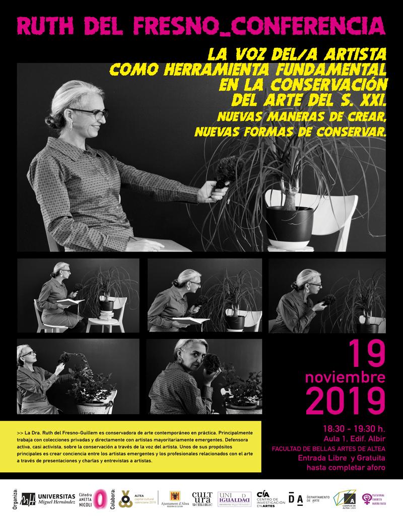 La Cátedra Anetta Nicoli organiza una conferencia de la conservadora Ruth del Fresno