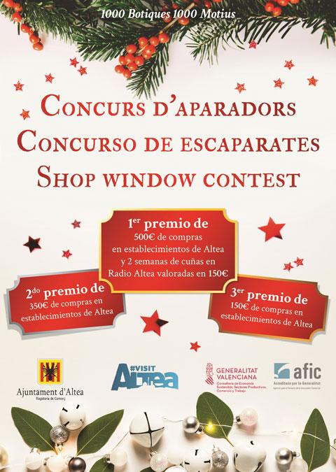 Se abre el plazo de inscripción para participar en el concurso de escaparates de Navidad