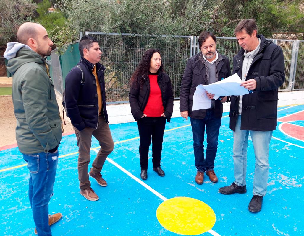 Educació i Urbanisme visiten el CEIP l'Olla per ultimar detalls de les obres de millora del Pla Edificant