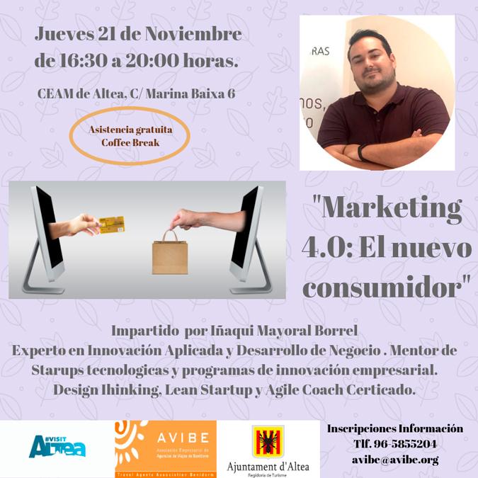 """Turisme i AVIBE posen en marxa el taller """"Marketing 4.0: El nuevo consumidor"""""""